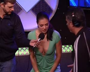 Adrianne Curry At The Howard Stern Show