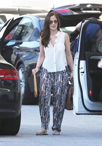 Minka Kelly leaves a meeting in Century City January 17, 2013