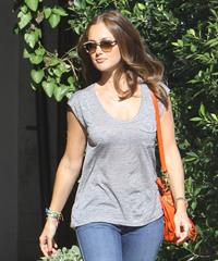 Minka Kelly - leaving Andy Lecompte Salon in West Hollywood 06/06/12