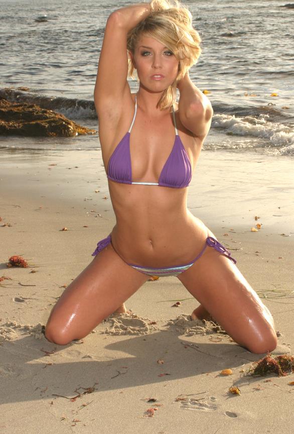 Christie Burns in a bikini