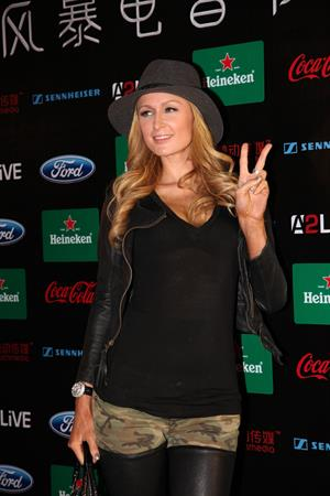 Paris Hilton Storm Electronic Music Festival in Shanghai on November 16, 2013