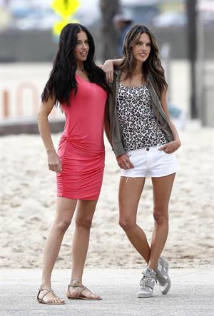Adriana Lima and Alessandra Ambrosio Photoshoot in Venice beach March 7, 2013