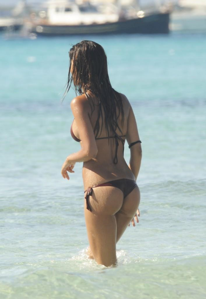 Federica Nargi in a bikini - ass