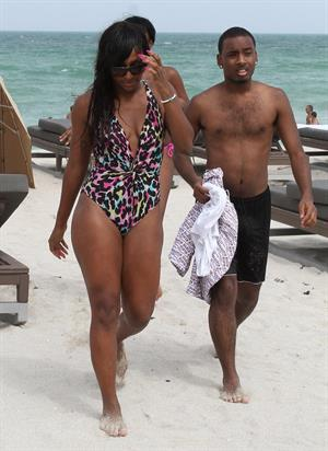 Alexandra Burke at Miami Beach on June 25, 2012