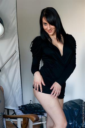 Teen Selena with big boobs enjoying pump dildo