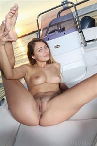 Yarina on a Boat