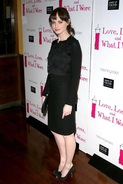 Alexis Bledel celebration of 500th performance of Love Loss and What I Wore in New York City on January 13, 2011