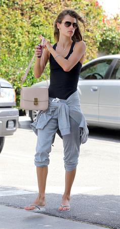 Alessandra Ambrosio going for coffee after leaving a spa in LA on May 7, 2011