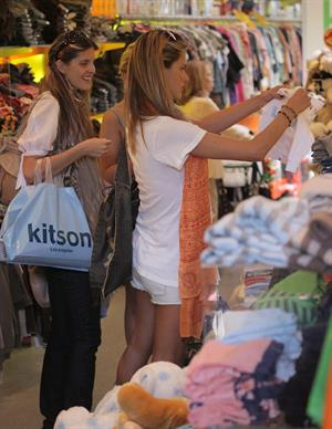 Alessandra Ambrosio Beverly Hills candids in a smiley shirt