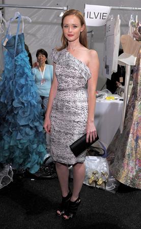 Alexis Bledel Monique Lhuillier Spring 2011 fashion show on September 13, 2010