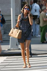Alessandra Ambrosio AT&T store in New York City on July 16, 2010