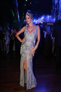 Alessandra Ambrosio Vogue's Pre Carnival party Sao Paulo on February 11, 2012