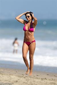 Lisa Rinna at the beach in Malibu August 2010