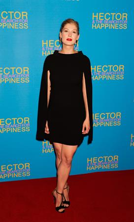 Rosamund Pike Hector and the Search for Happiness London premiere August 13, 2013 at the Empire Leicester Square