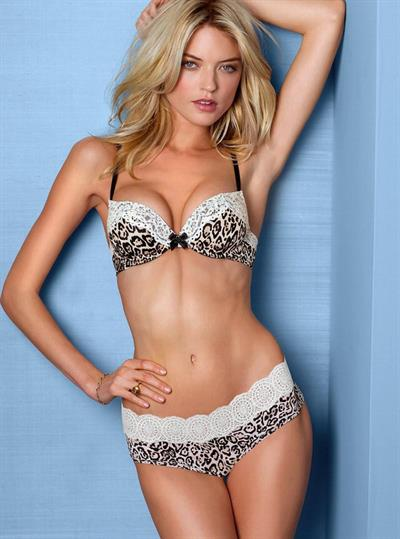 Martha Hunt in lingerie