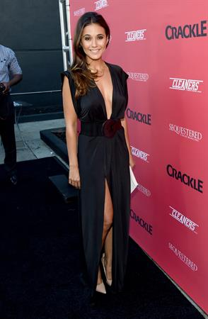Emmanuelle Chriqui Crackle Original Series Cleaners and Sequestered Summer premiere celebration August 14, 2014