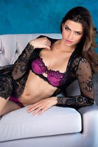 Nicole Harrison in lingerie