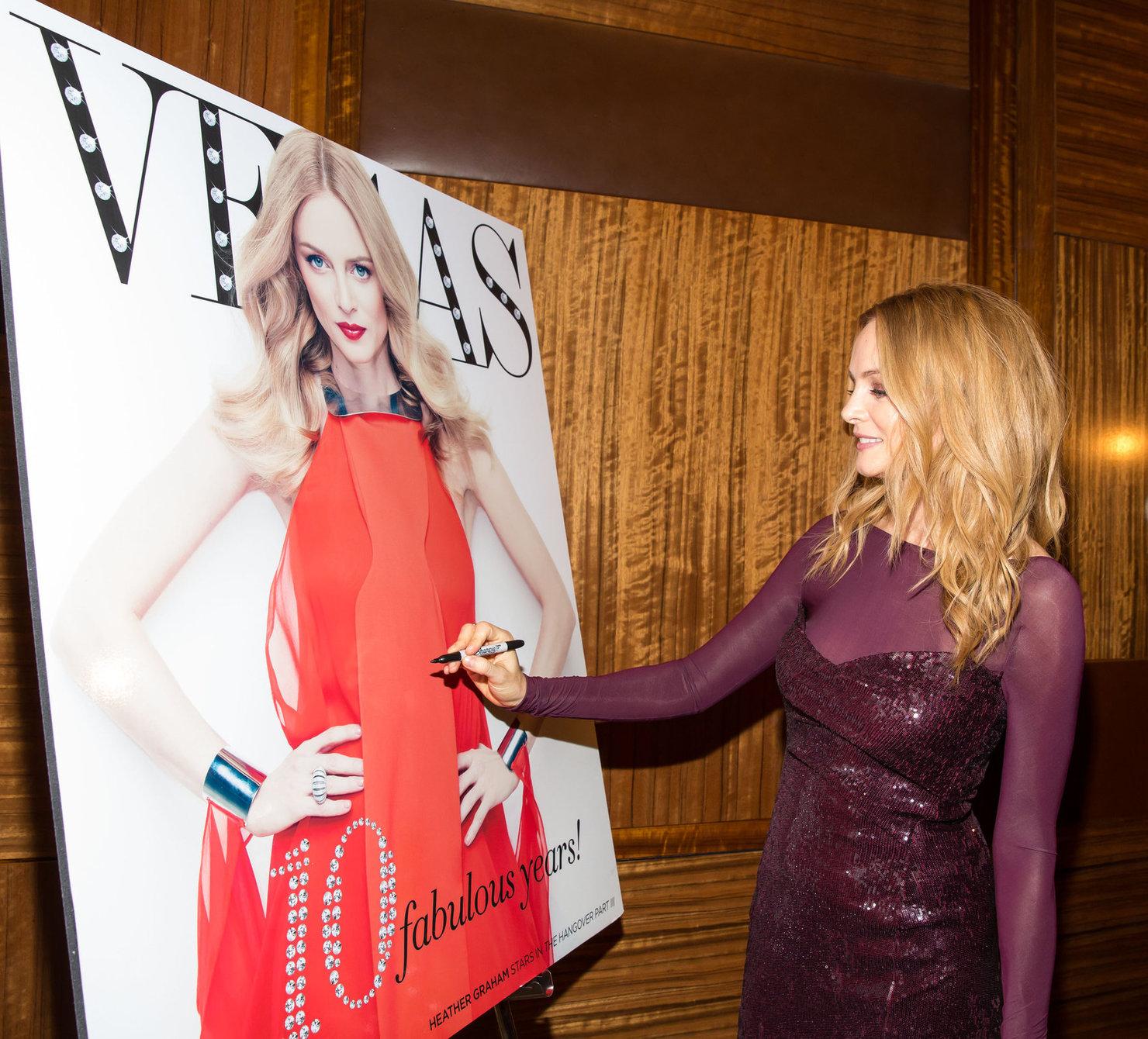 Heather Graham attends the Vegas Magazine's 10th anniversary celebration at Mandarin Oriental in Las Vegas - May 9, 2013