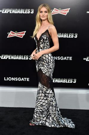 Rosie Huntington-Whiteley attending The Expendables 3 LA premiere August 11, 2014