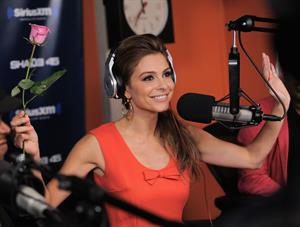 Maria Menounos visiting SiriusXM studios in New York City on  August 5, 2014