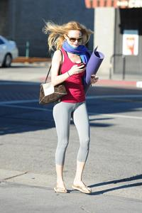 Heather Graham at yoga class in LA 7/31/13