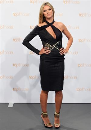 Heidi Klum Photocall for TV Show Germany's Net Topmodel in Berlin on May 27, 2013