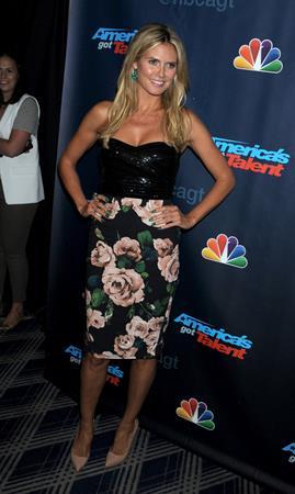 Heidi Klum America's Got Talent Post Show Red Carpet Radio City Music Hall NY 14.08.13