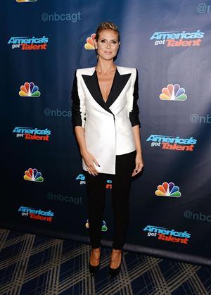 Heidi Klum attending America's Got Talent Season 8 at Radio City Music Hall in New York on August 7, 2013