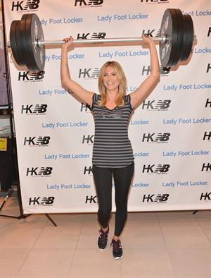 Heidi Klum Launch her new Collection 'Heidi Klum for New Balance' at Lady Foot Locker in Culver City 14.03.13