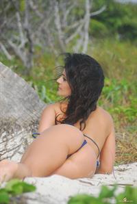 Denise Milani in a bikini - ass