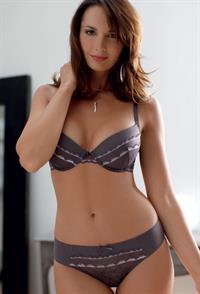 Delphine Breyne in lingerie