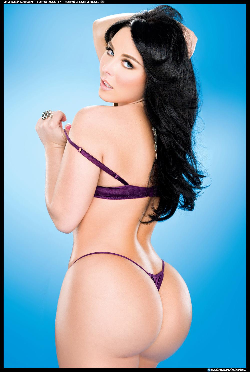 Ashley Logan in lingerie - ass