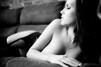 Sabine Jemeljanova in lingerie