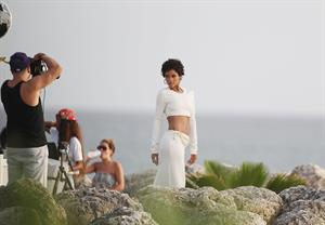 Rihanna poses on a photoshoot in Barbados - August 4, 2013