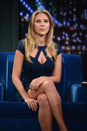 Scarlett Johansson visits Late Night with Jimmy Fallon in NYC 9/13/13