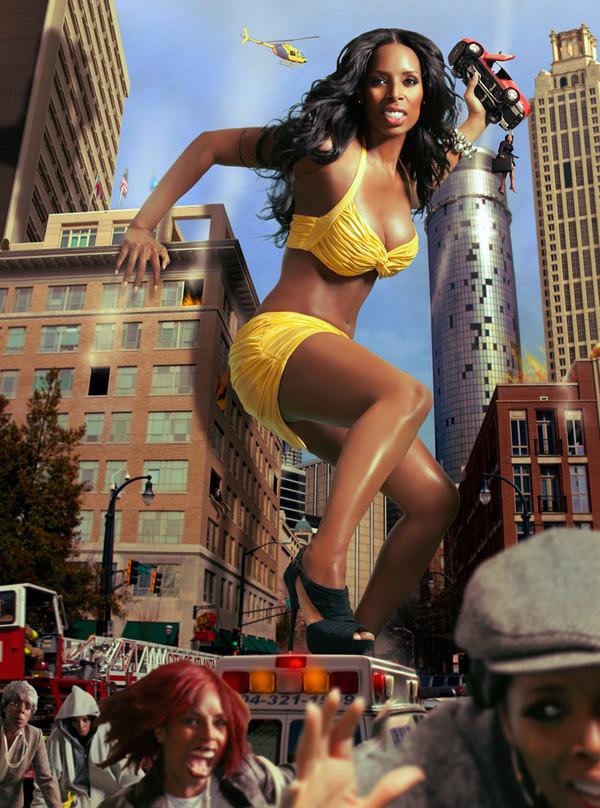 Tasha Smith in a bikini
