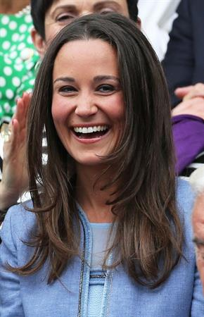 Pippa Middleton at the Centre Court opening day of Wimbledon in London on June 24, 2013