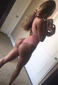 Sommer Ray in lingerie taking a selfie and - ass