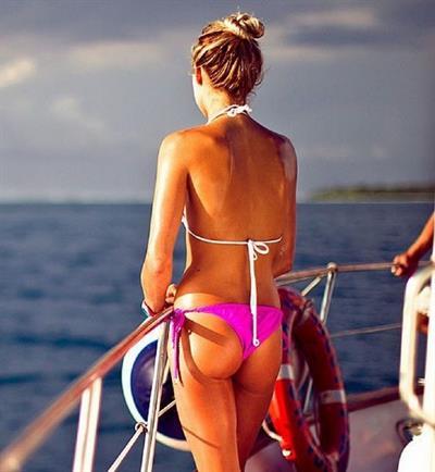 Alana Blanchard in a bikini - ass