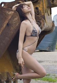 Risa Yoshiki in a bikini