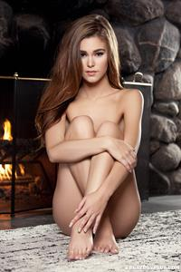 Playboy Cybergirl Amberleigh West nude by the fireplace