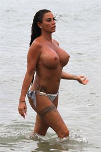 Katie Price topless on Thailand vacations.