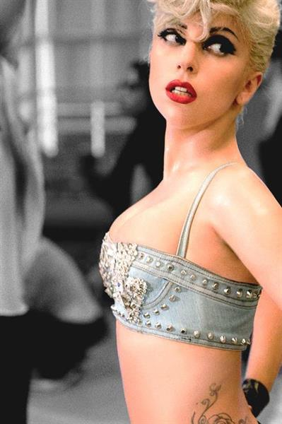 Lady Gaga in lingerie