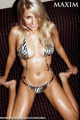 Jelena Kostic in a bikini
