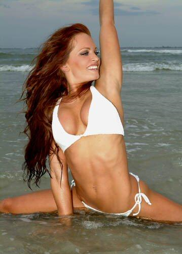 Christy Hemme has great abs in this picture