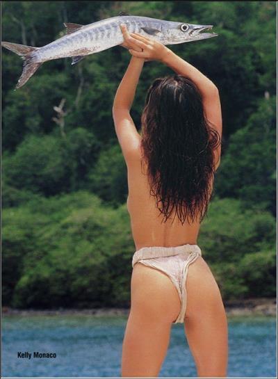 Kelly Monaco in a bikini - ass
