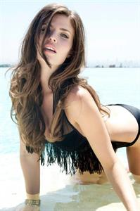 Julia Lescova in a bikini