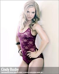 Cindy Busby in a bikini