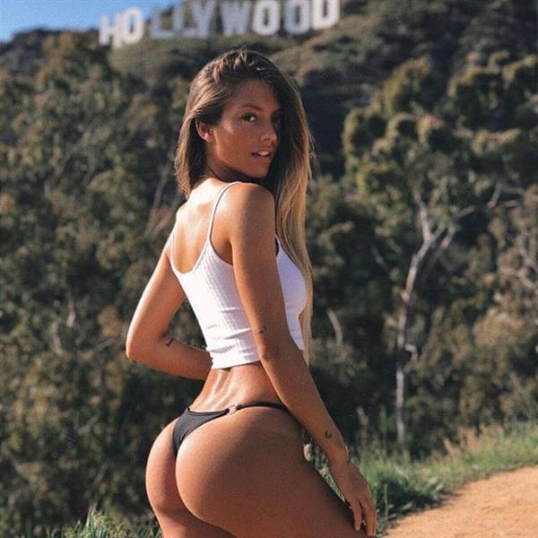 Pauline Tantot in a bikini - ass