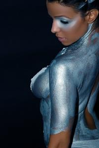 Vida Guerra in body paint - breasts